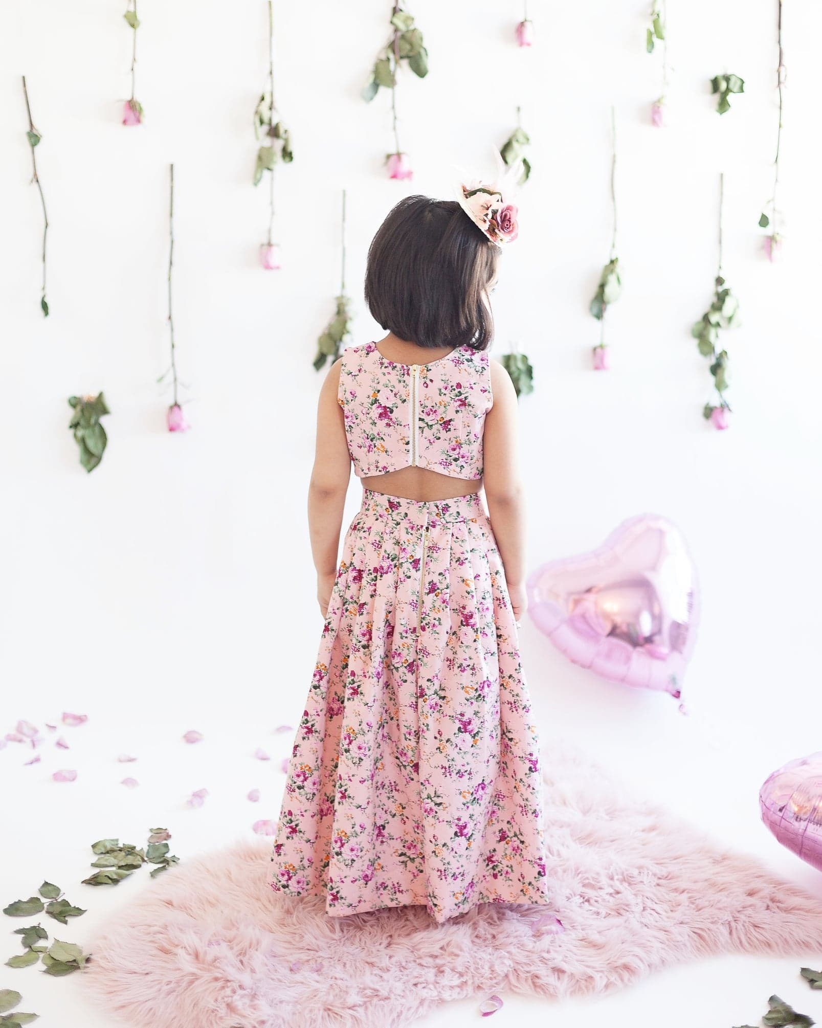 Sweetheart Floral Skirt & Top