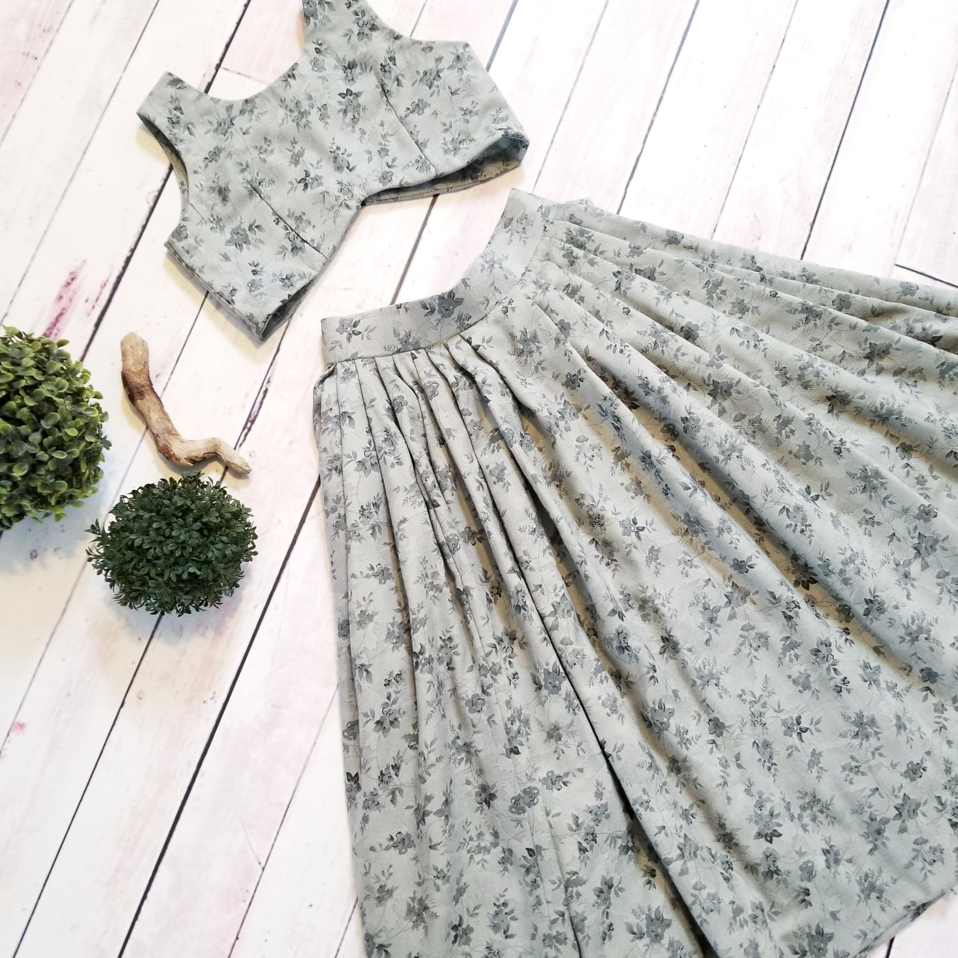 Maiya Green Ivy Skirt & Top