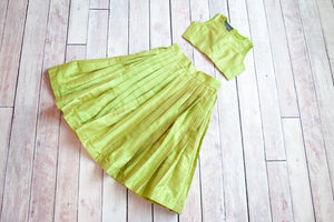 Melody Lime Green Skirt&Top