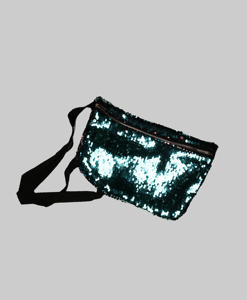 Sequin Iridescent Fanny Pack (Blue/Purple)