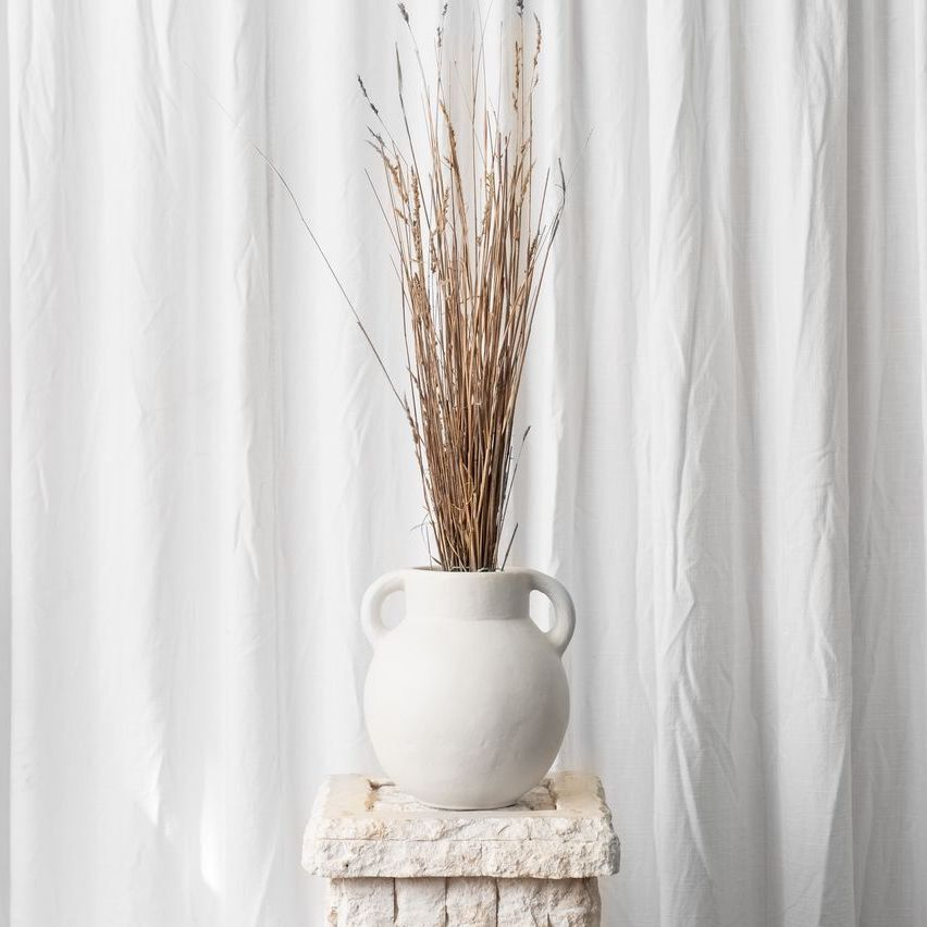 LUKA TERRACOTTA VESSEL - WHITE
