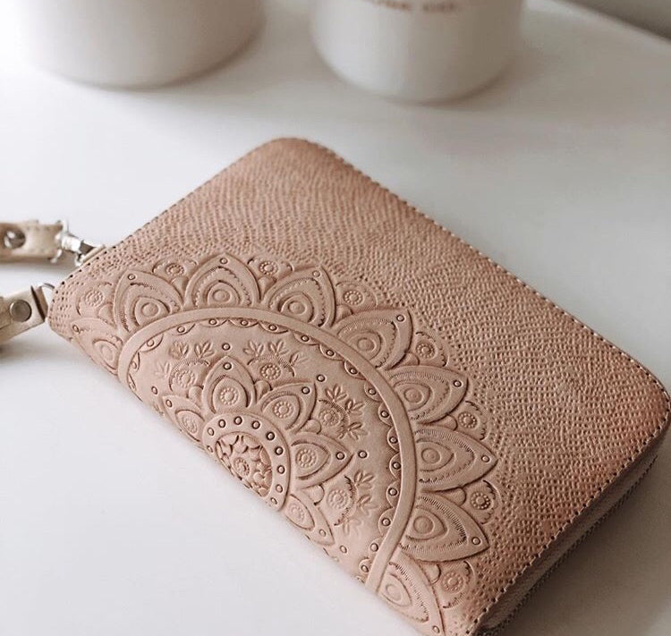 GRACE LEATHER WALLET - BLUSH OR BLACK - SUN REPUBLIC