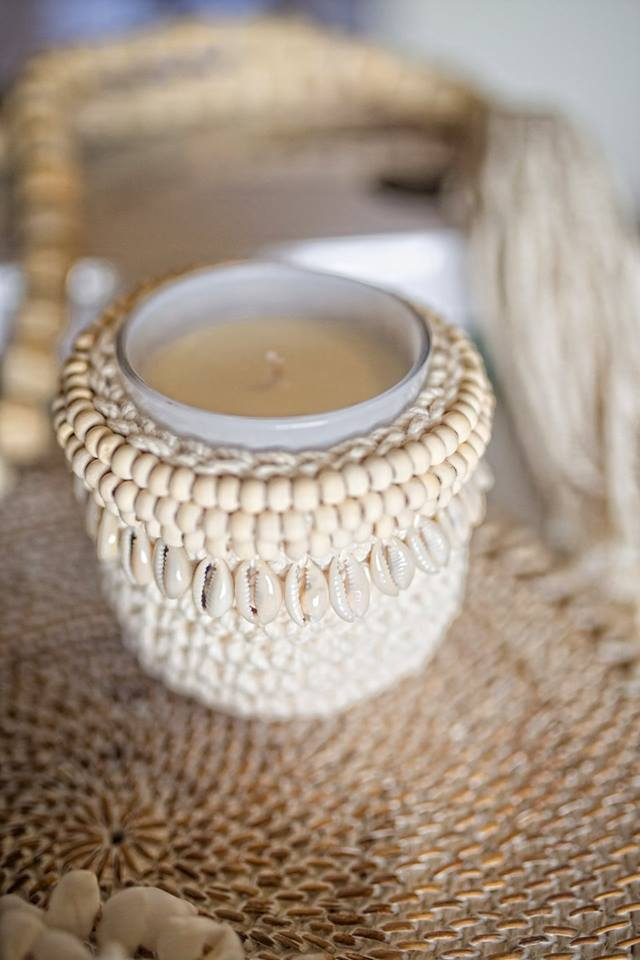 COASTAL COLLECTION MACRAME & SHELL PODS - COWRIE - SUN REPUBLIC