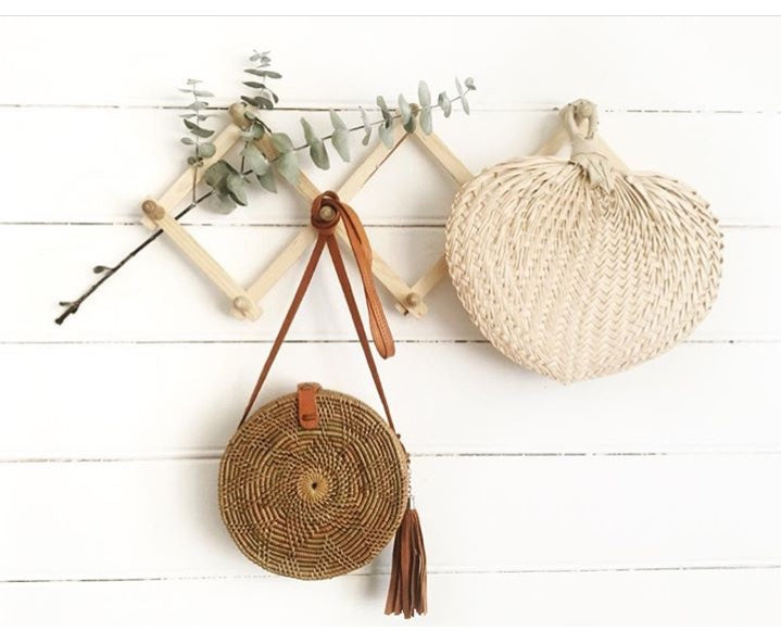 WOVEN ATTA ROUND BAG - NATURAL - SUN REPUBLIC