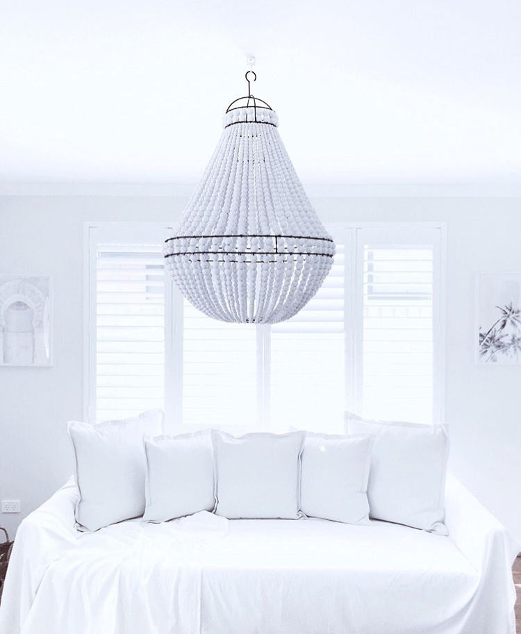 KALEI BEADED CHANDELIER - WHITE PRE ORDER - SUN REPUBLIC