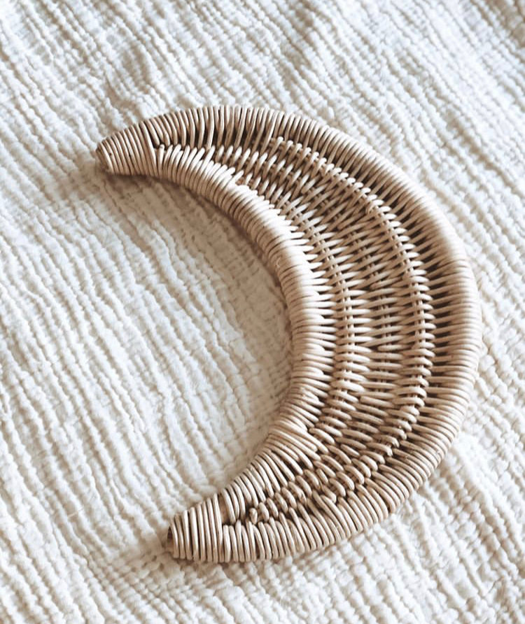 RATTAN MOON WALL HANGING
