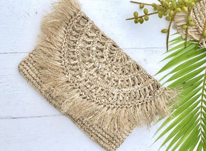 LAUREN RAFFIA CLUTCH - NATURAL - SUN REPUBLIC
