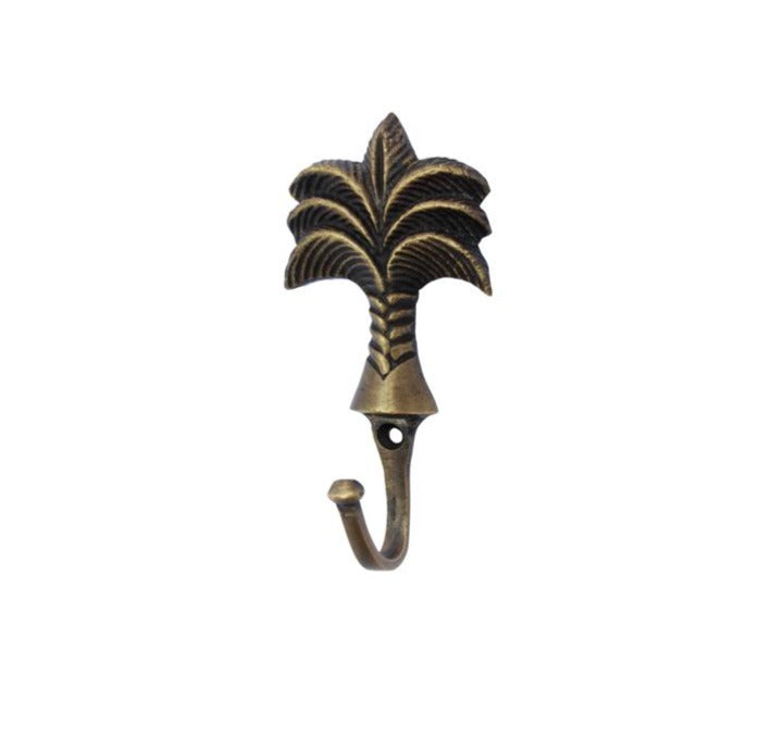 BRASS PALM TREE WALL HOOK - SUN REPUBLIC