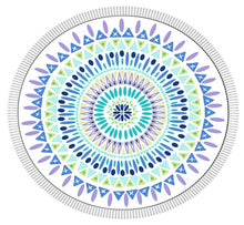 BOHO ROUNDIE - LARGE ROUND COTTON BEACH TOWEL - RAINBOW - SUN REPUBLIC