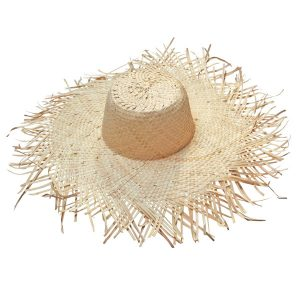 SOPHIA FRINGED SUN HAT - BLONDE