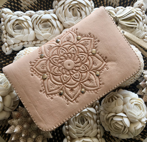 LANI LEATHER WALLET - BLUSH