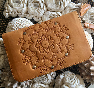 LANI LEATHER WALLET - TAN - SUN REPUBLIC
