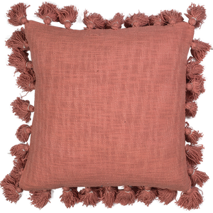 AZIZA COTTON CUSHION - DUSTY CORAL