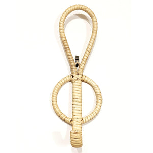 RATTAN SINGLE WALL COAT HOOK