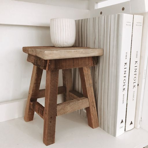 RUSTIC WOODEN DISPLAY STAND/STOOL - SUN REPUBLIC