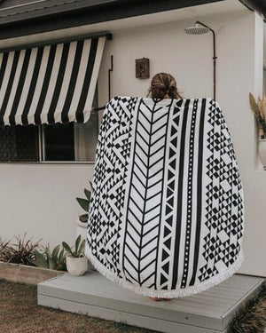BOHO ROUNDIE - BLACK/WHITE - SUN REPUBLIC