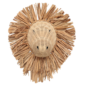 MUFASA RATTAN LION HEAD
