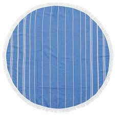 COTTON PESHTEMAL TOWEL - BLUE - SUN REPUBLIC