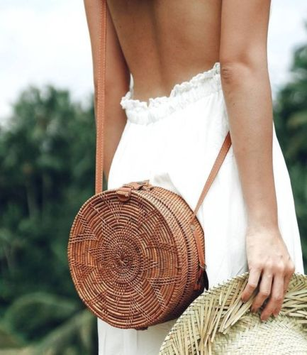 WOVEN ATTA ROUND BAG - NATURAL