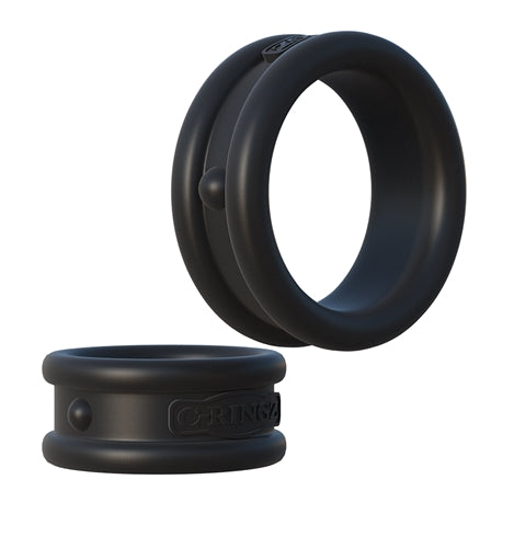 Fantasy C-Ringz Max Width Silicone Rings - Black PD5905-23