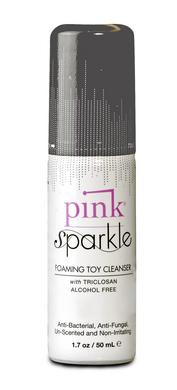 Pink Sparkle Foaming Toy  Cleaner - 1.7 Oz. -  Gun Oil Pink Lubricant