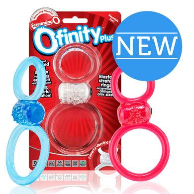 Ofinity Plus Vibrat Ring Assorted Colors - 6 Count Display -  Screaming O
