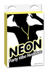 Neon Party Vibe Necklace - Yellow -  Sale Items