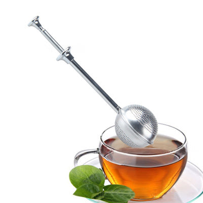 Stainless Steel Push Type Retractable Tall Tea Strainer Teaspoon - Red's Kitchen Sink