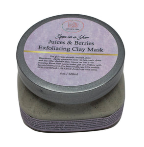 SPA IN A JAR JUICES 'N BERRIES CLAY EXFOLIATING MASK - Red's Kitchen Sink