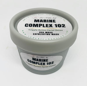 Marine Complex 102 |Sea Moss Facial Detox Exfoliating  Mask
