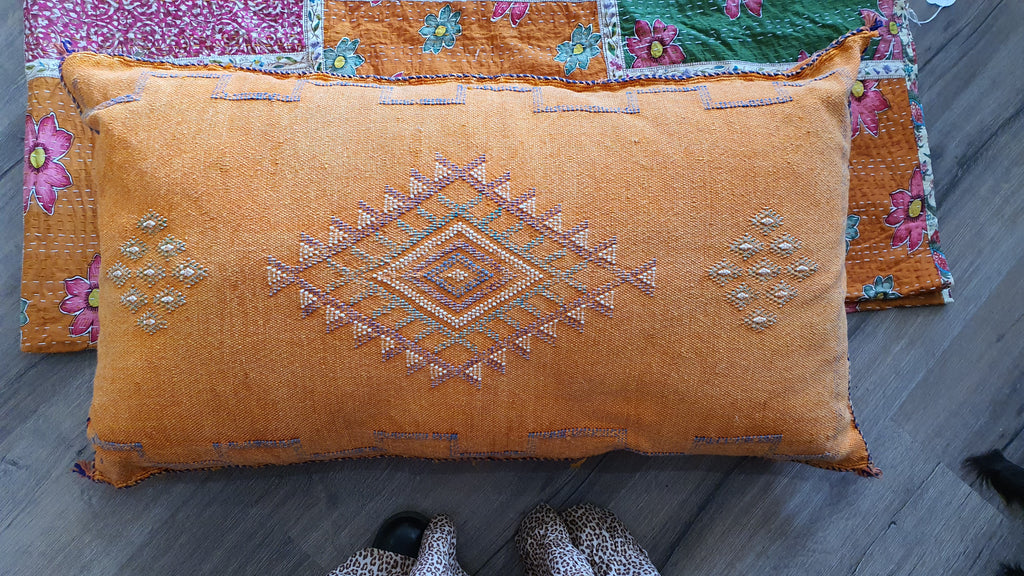 MOROCCAN Cactus silk cushion