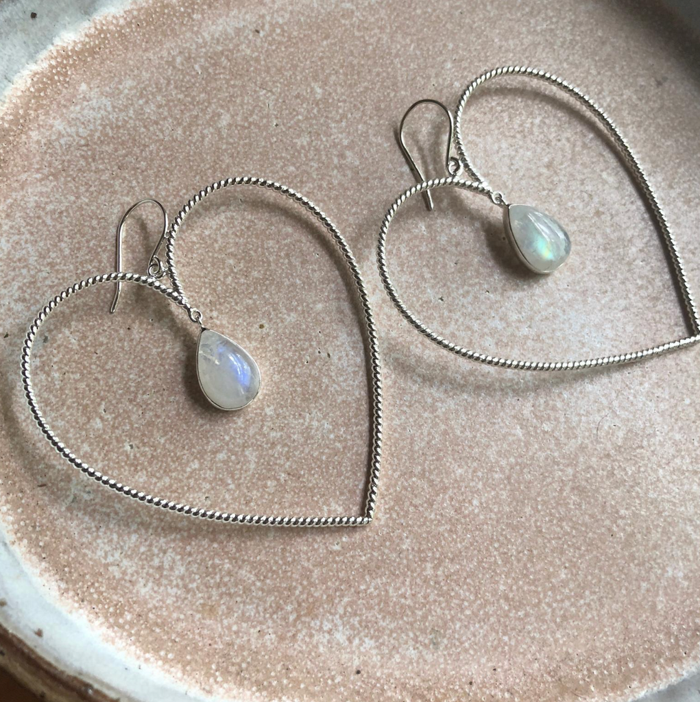 Big Love Moonstone Earrings