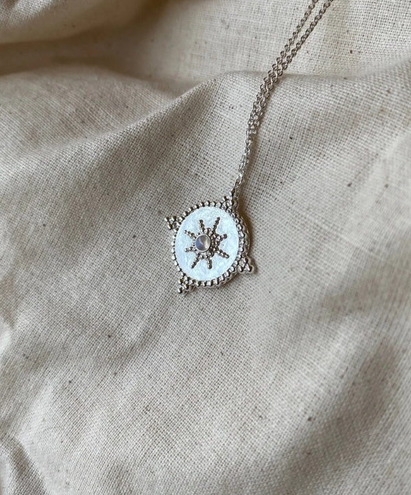 Isabella Medallion Moonstone Necklace