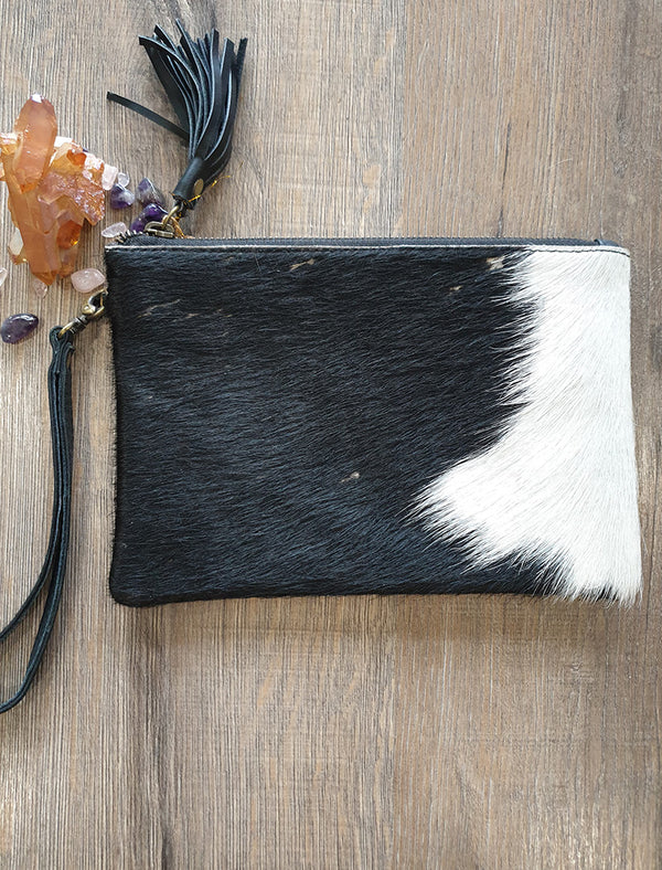 Cow Hide Clutch