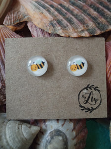 Handmade Bee earrings