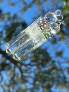 Clear Quartz ball and point pendant