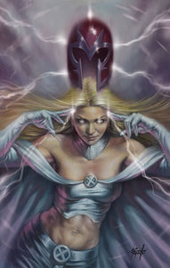 Lucio Parrillo X-Men Black Magneto #1 Emma Frost Original Art Cover