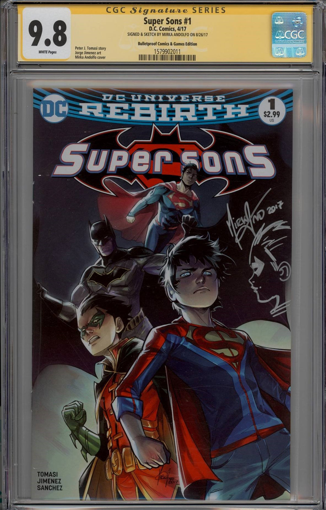Super Sons #1 Mirka Andolfo Remark CGC 9.8 Signature Series