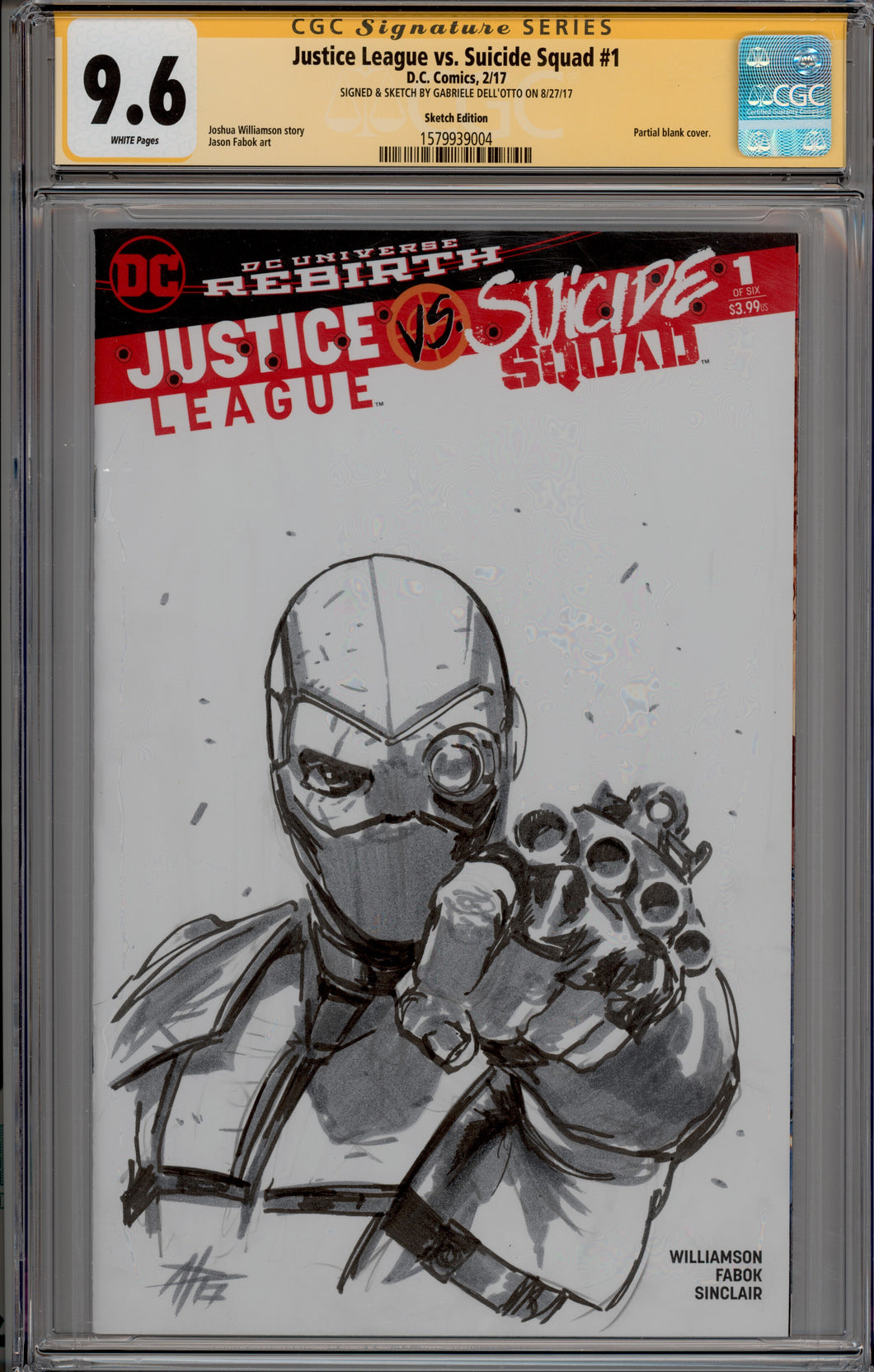 Gabriele Dell'Otto Deadshot CGC 9.6 Sketch Cover