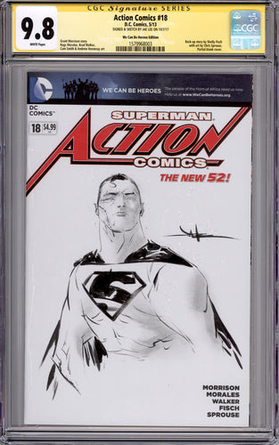 Jae Lee Superman CGC 9.8 Sketch Cover