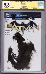 Jae Lee Batman CGC 9.8 Sketch Cover