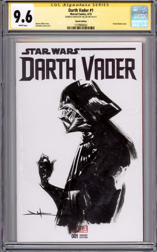 Jae Lee Darth Vader CGC 9.6 Sketch Cover