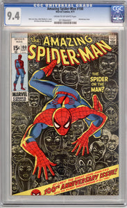 AMAZING SPIDER-MAN #100  9.4  CREAM TO OFF WHITE PAGES