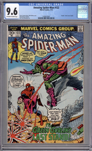 AMAZING SPIDER-MAN #122  9.6  OFF WHITE TO WHITE PAGES (DEATH OF GREEN GOBLIN)