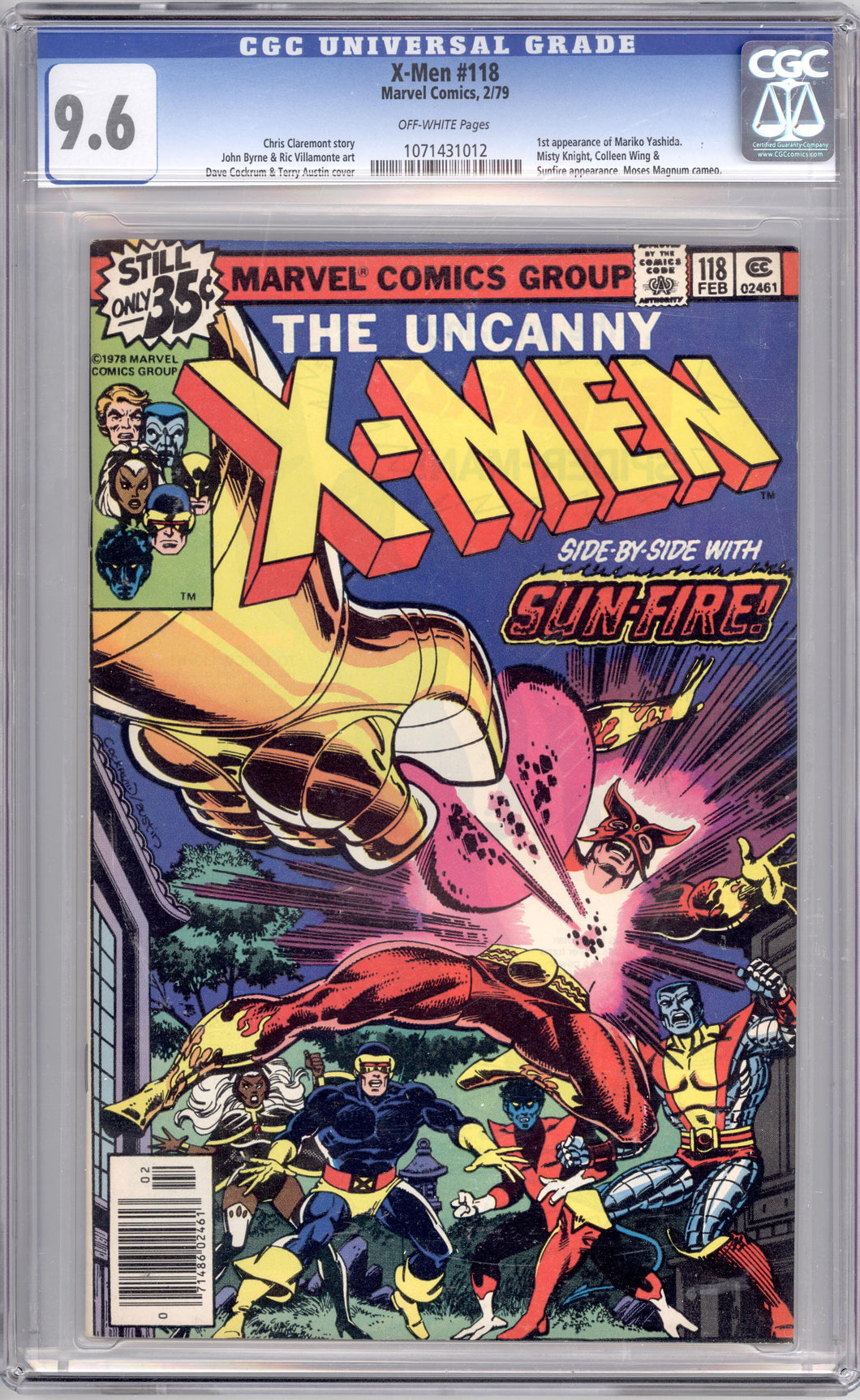 UNCANNY X-MEN #118  9.6  OFF WHITE PAGES (1ST MARIKO)
