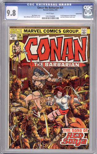 CONAN #24  9.8  WHITE PAGES  (1ST RED SONJA)