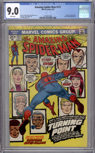 AMAZING SPIDER-MAN #121  CGC 9.0  (WHITE PAGES)