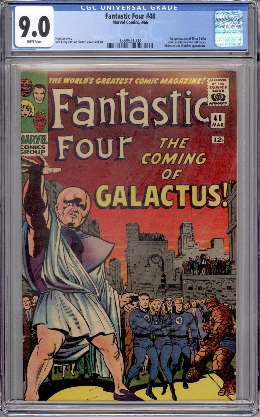 FANTASTIC FOUR #48 CGC 9.0 (WHITE PAGES) 1ST SILVER SURFER