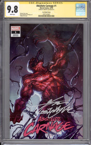 ABSOLUTE CARNAGE #1 CGC SS 9.8 (SIGNED BY INHYUK LEE) FANEXPO TRADE COVER