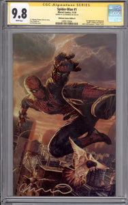 SPIDER-MAN #1 CGC SS 9.8 (SIGNED BY LEE BERMEJO) NYCC VIRGIN COVER